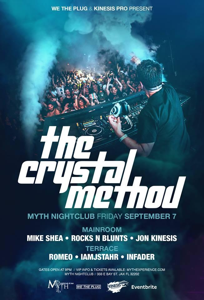 The Crystal Method at Myth Nightclub | Friday 09 07 18